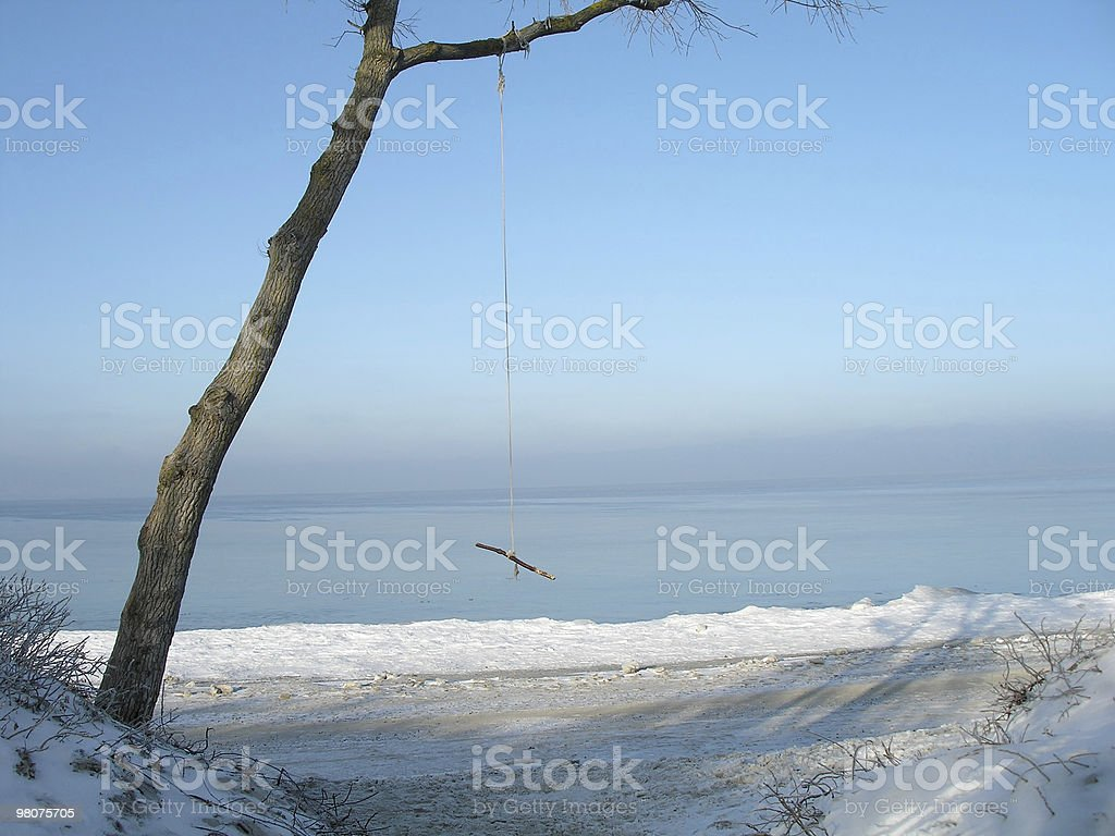 Rope swing royalty-free stock photo