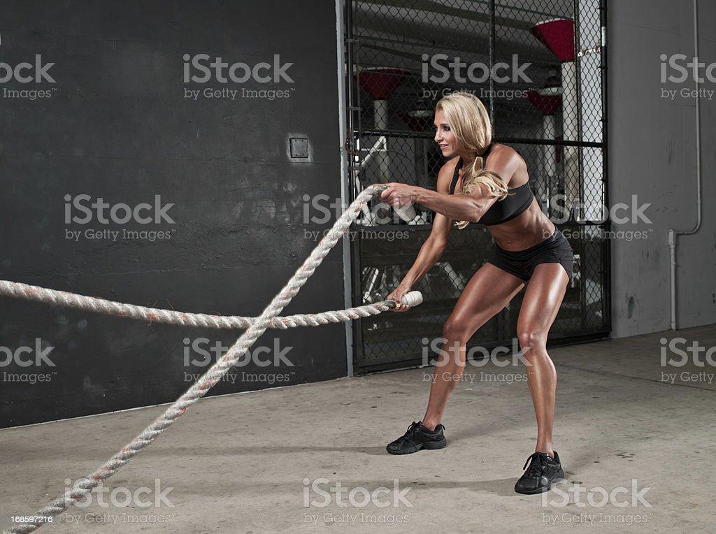 Rope Training royalty-free stock photo