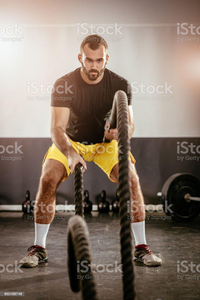 Rope Training stock photo