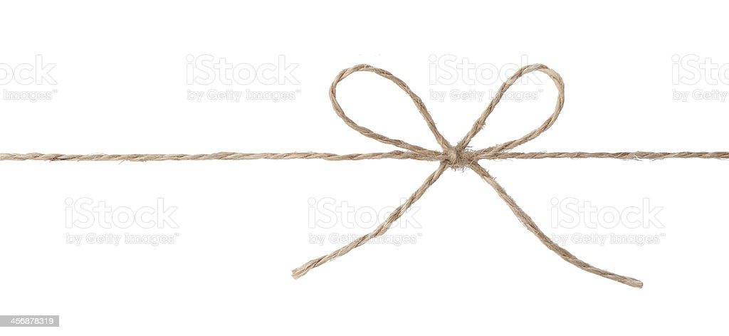 Rope with bow knot stock photo