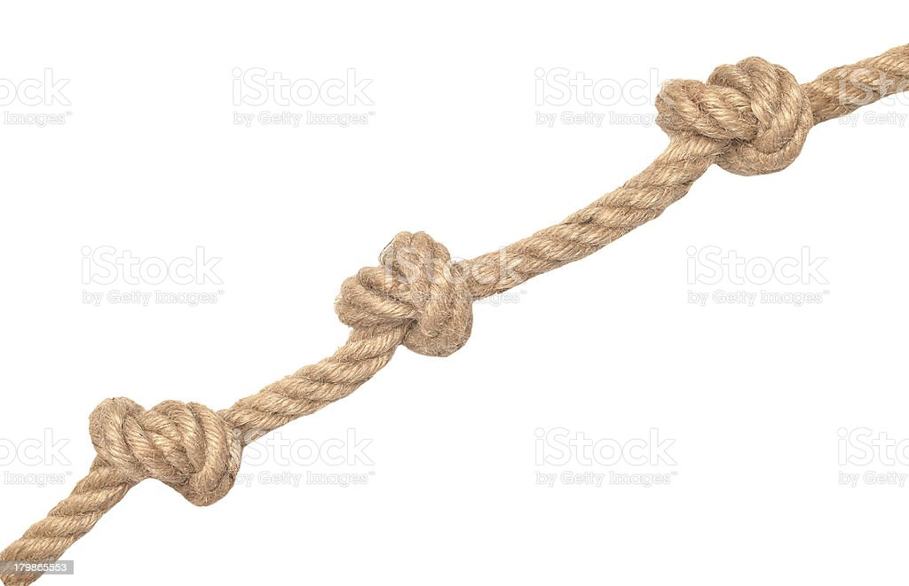 rope with knots stock photo