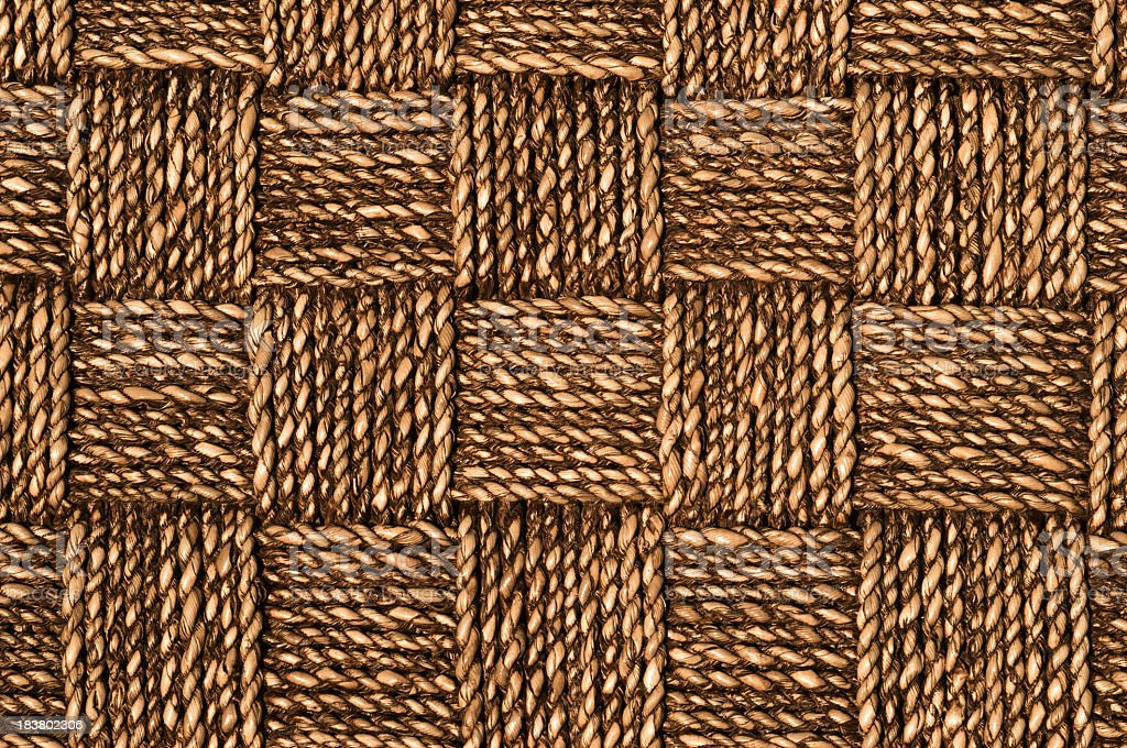 Rope woven pattern royalty-free stock photo