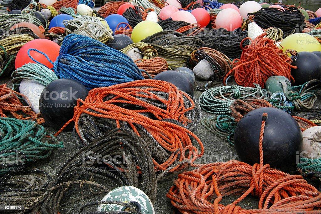 ropes and buoys royalty-free stock photo