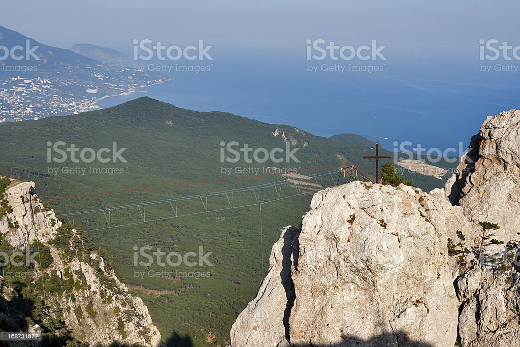 Ropes for extreme climbing royalty-free stock photo