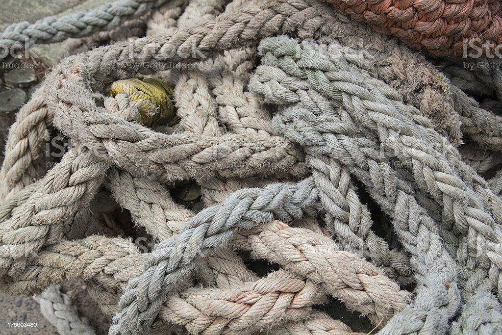 Ropes royalty-free stock photo