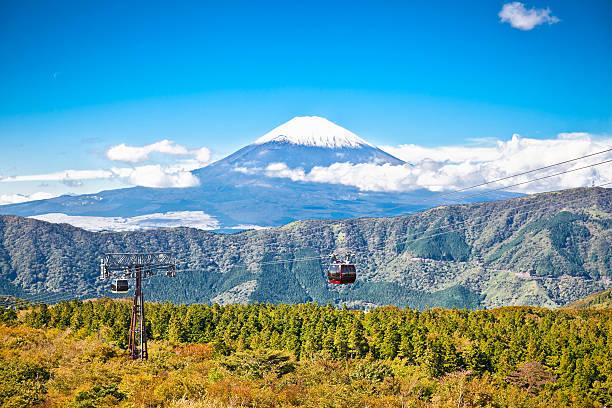 ropeway w fudżi-hakone -, japonia z widokiem na góry - prefektura kanagawa zdjęcia i obrazy z banku zdjęć