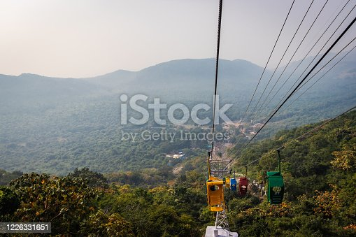 ropeway or cable car electric for mountain quick reach