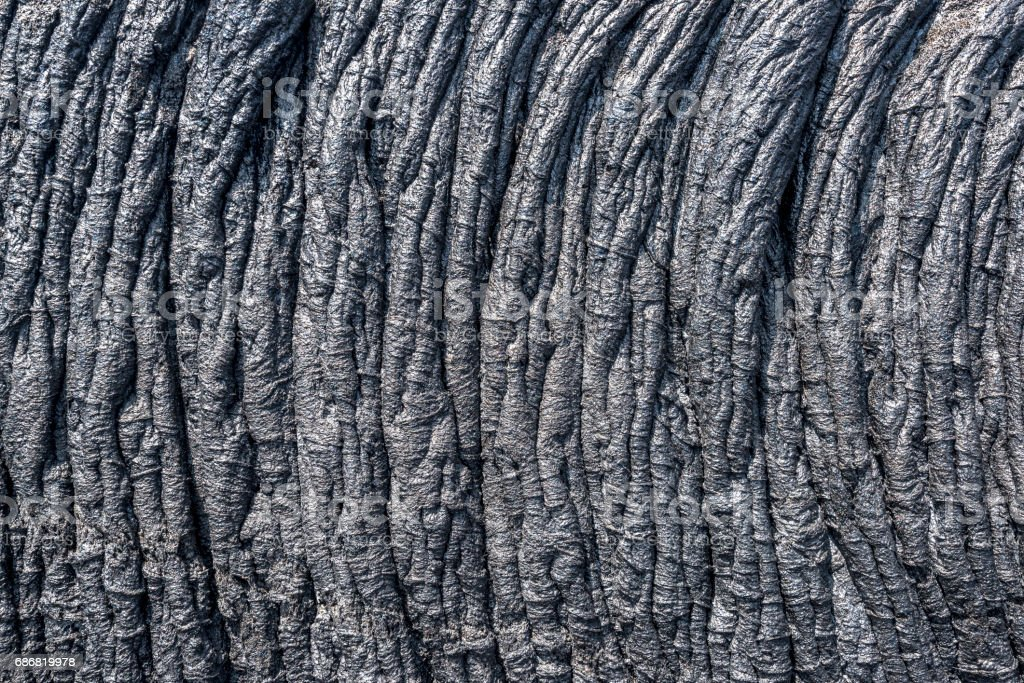 Ropey lava flow in Hawaii stock photo