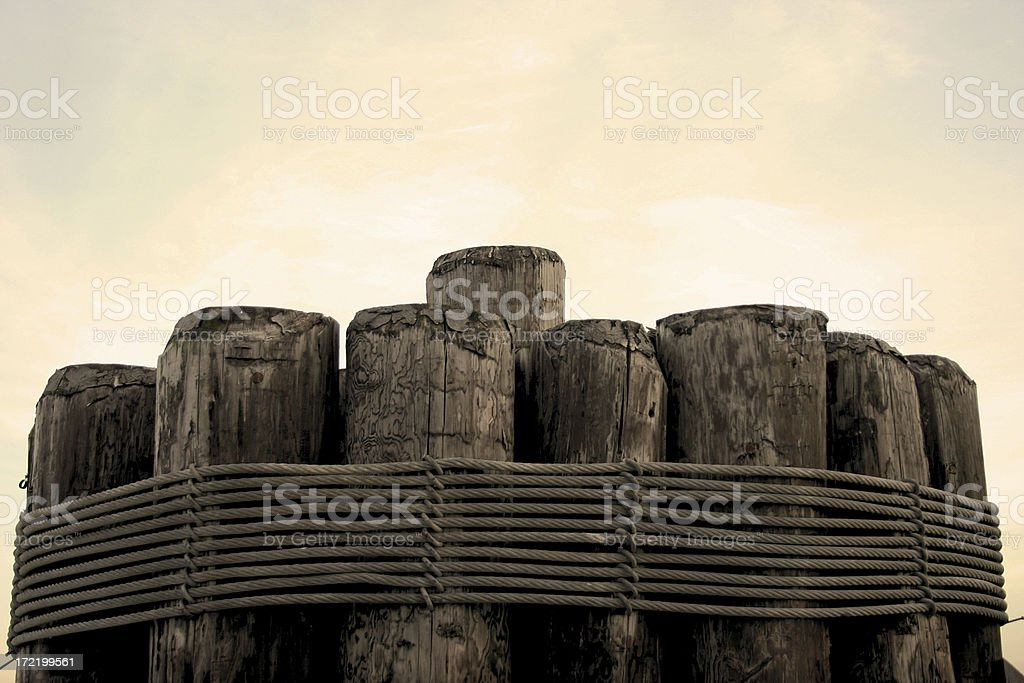 Ropped Logs stock photo
