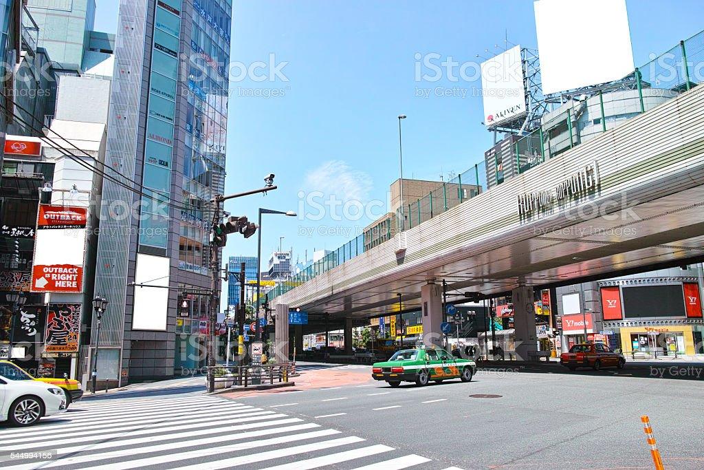 Roppongi intersection stock photo