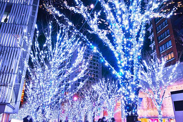 Roppongi Keiryozaka Christmas illumination ストックフォト