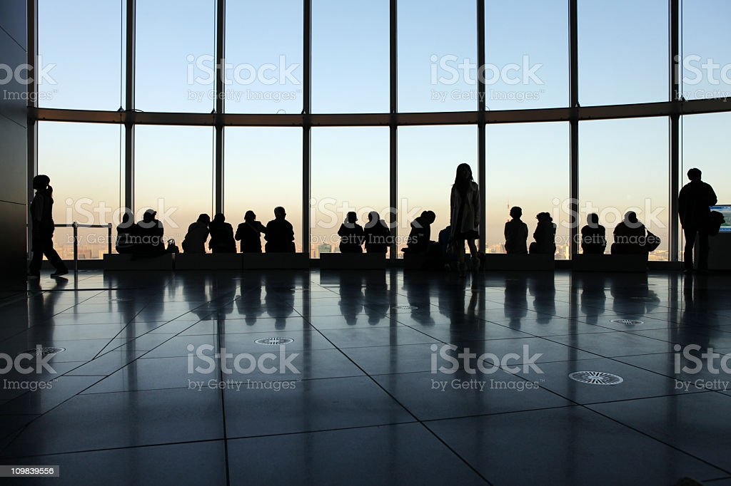 Roppongi Towers View Floor royalty-free stock photo