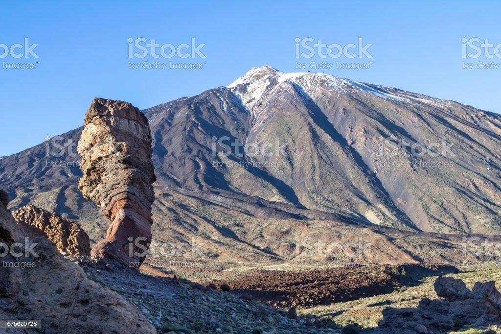 Roque Cinchado in Parque Nacional del Teide, Tenerife royalty-free stock photo