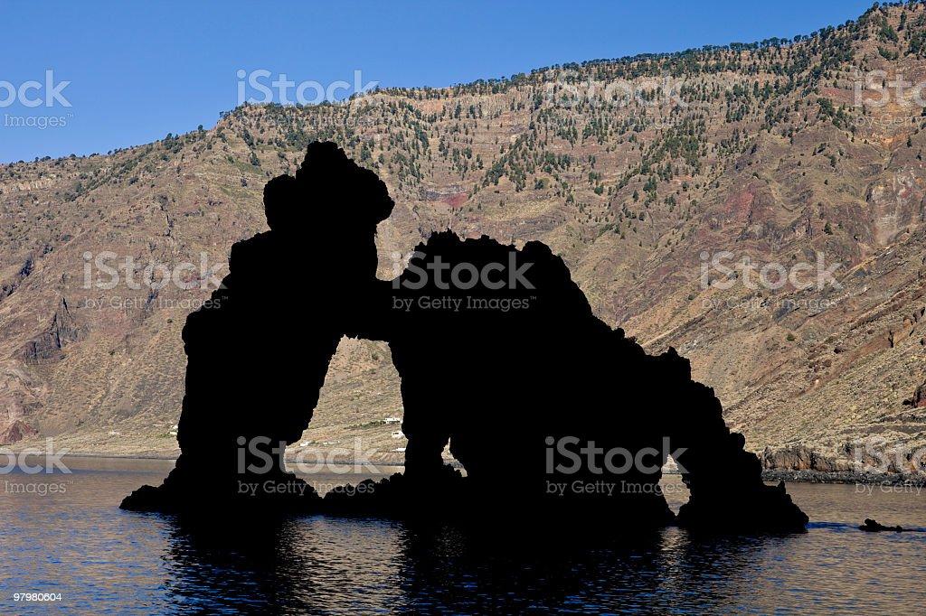 Roque de la Bonanza, El Hierro, Canary Islands royalty-free stock photo