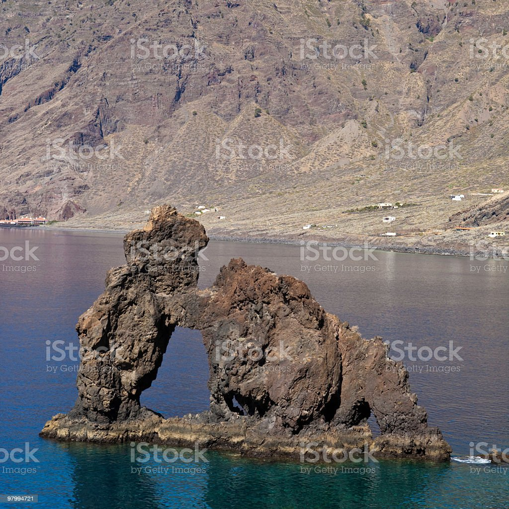 Roque de la Bonanza, El Hierro, Canary Islands royalty free stockfoto