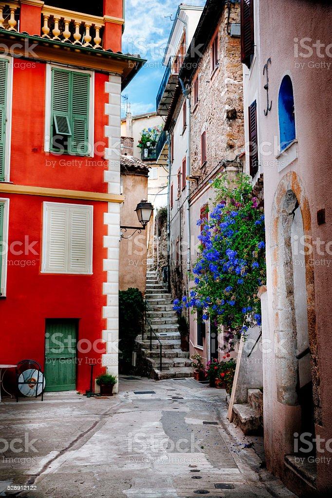 Roquebrune Village, Cote d'Azur, France stock photo