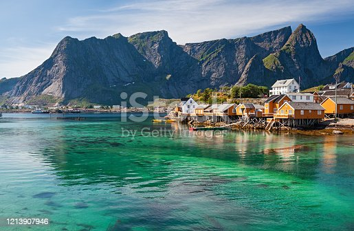 Rorbuer (rorbu) huts in Lofoten, Norway