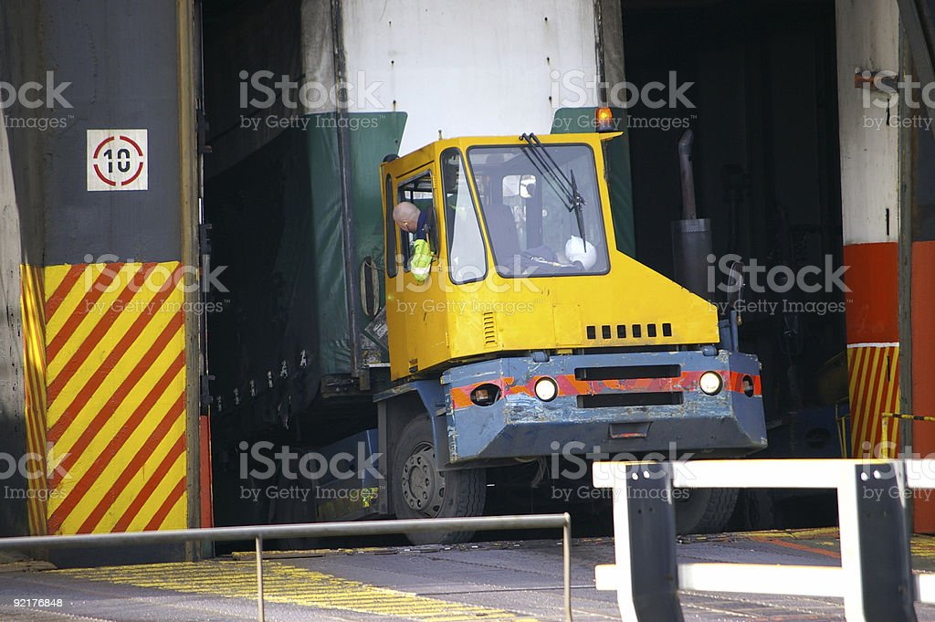 RoRo cargo loading royalty-free stock photo