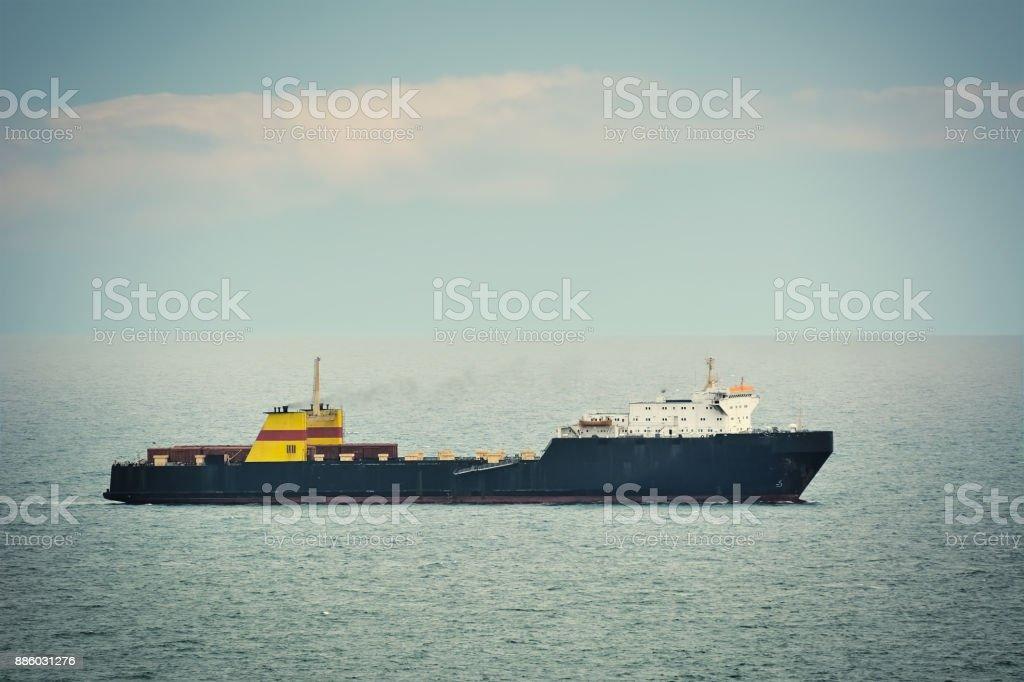 Ro-Ro Cargo Ship stock photo