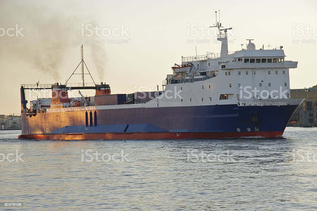 Ro-Ro ferry royalty-free stock photo
