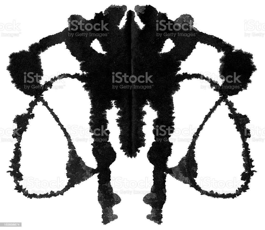 Rorschach Test royalty-free stock photo