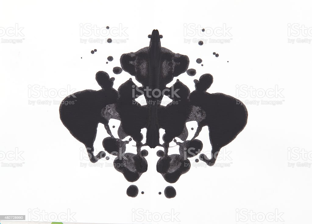 Rorschach test stock photo