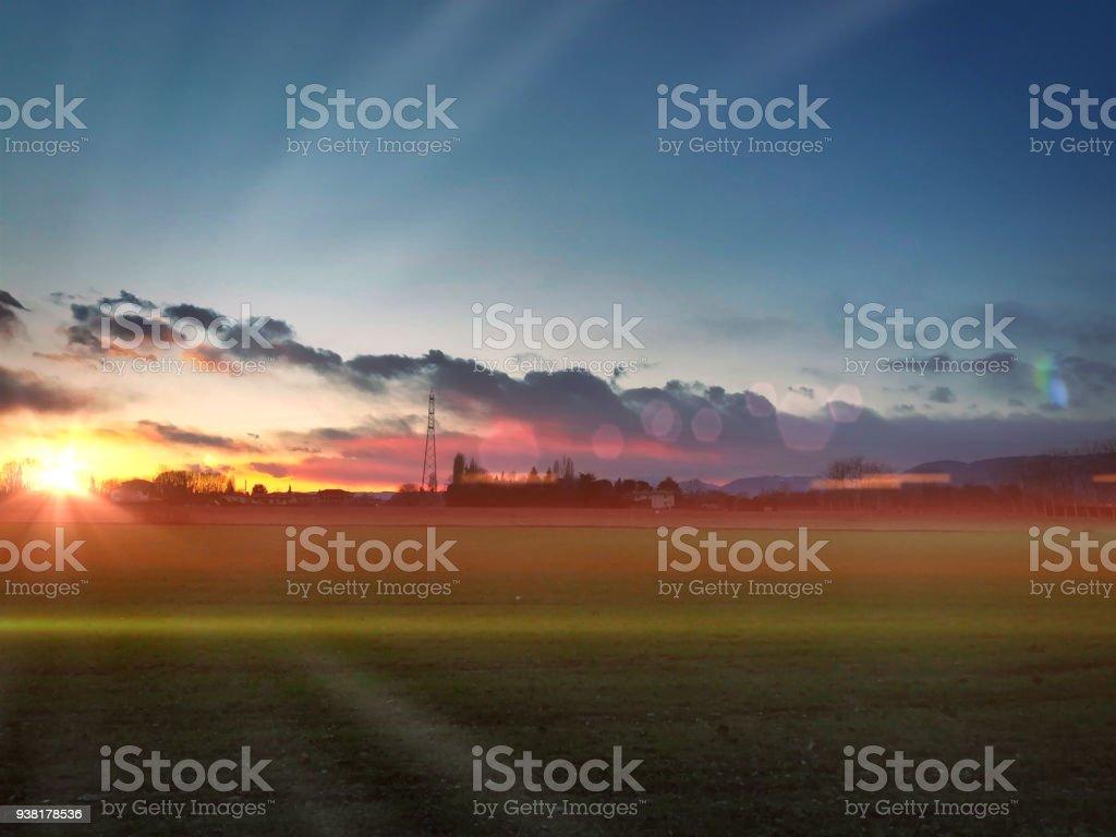 Rosà VI al tramonto - foto stock
