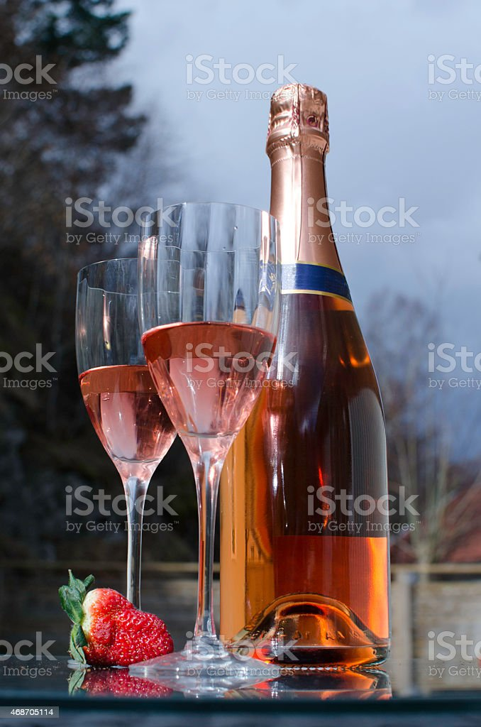Rosé wine stock photo