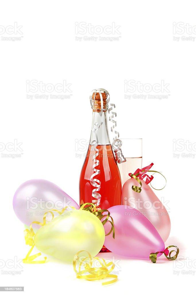 Rosé champagne decoration stock photo