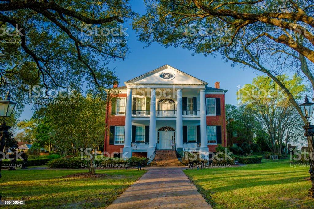 rosalie mansion, natchez, mississippi stock photo