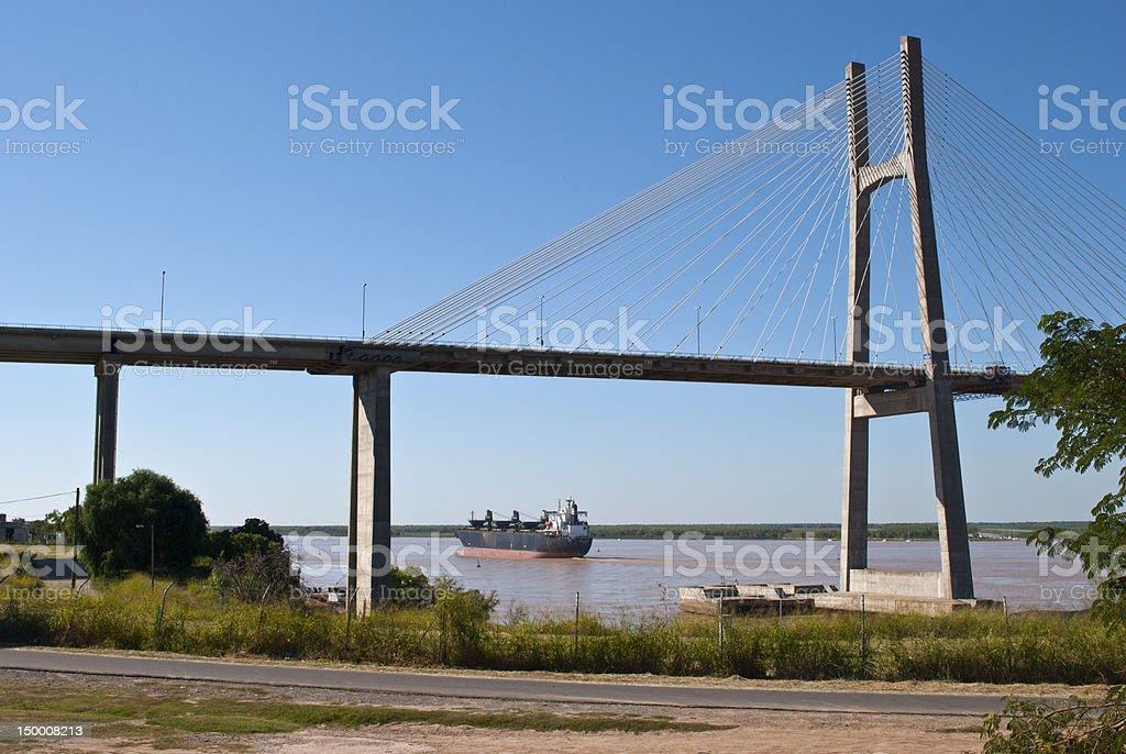 Rosario Victoria Bridge royalty-free stock photo