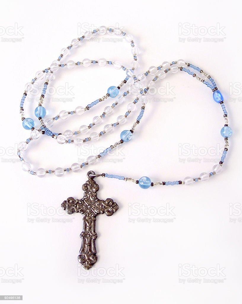 Rosary Beads:  Blue royalty-free stock photo
