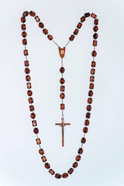 Rosary, inside the Alto Vista Chapel, Aruba Island stock photo