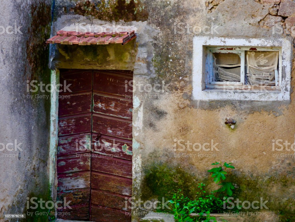 Rosazia House in Corsica stock photo