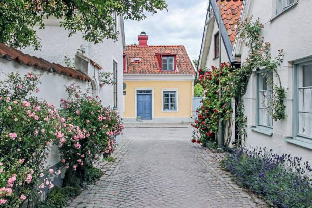 Rose Gasse in Visby, Schweden – Foto