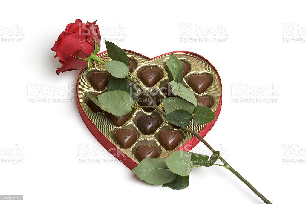 Rose i czekoladki zbiór zdjęć royalty-free