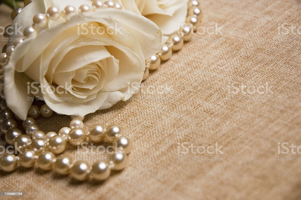 Rose and Pearls royalty-free stock photo