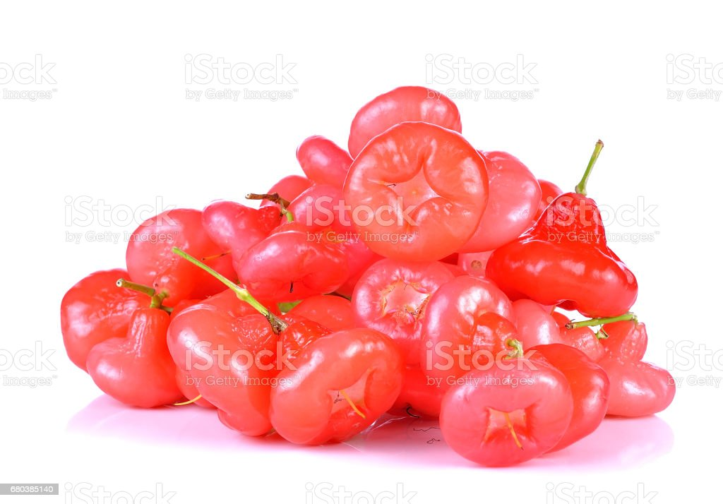 Rose apples or chomphu isolated on white background royalty-free stock photo