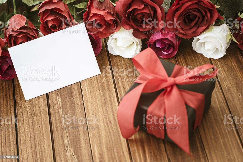 Rose background for St. valentine royalty-free stock photo
