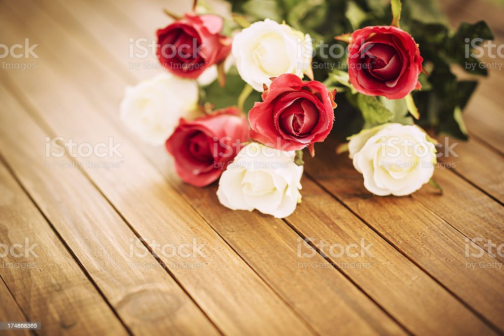 Rose background for St. valentine stock photo
