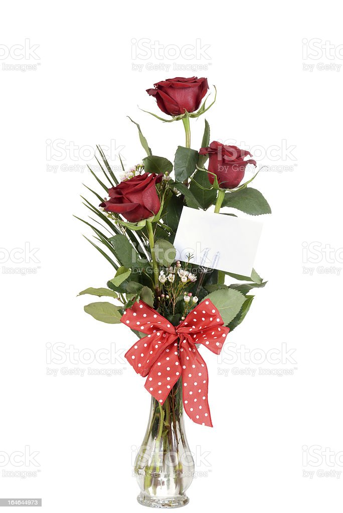 rose bouquet in a vase royalty-free stock photo