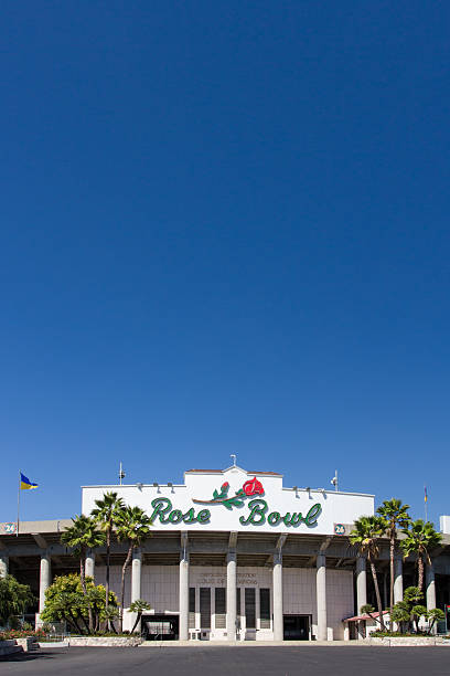 Rose Bowl Pasadena, United States - September 30, 2013:The Rose Bowl in Pasadena California is home to the college UCLA Bruins football team. The stadium is a National Historic Landmark. ucla medical center stock pictures, royalty-free photos & images