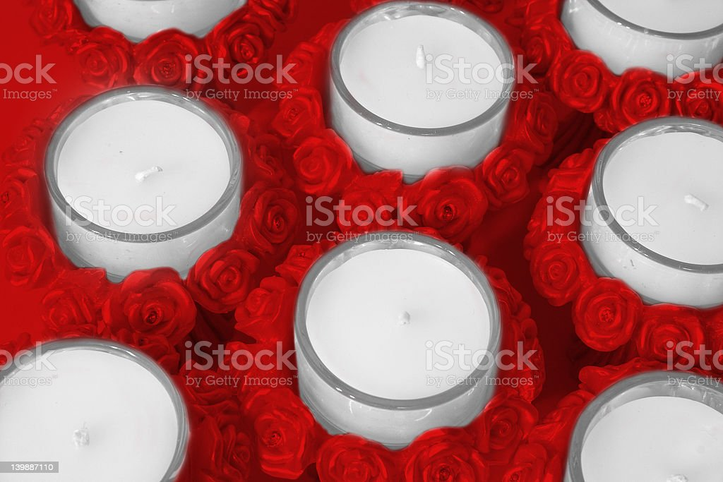 Rose Candle Holders royalty-free stock photo