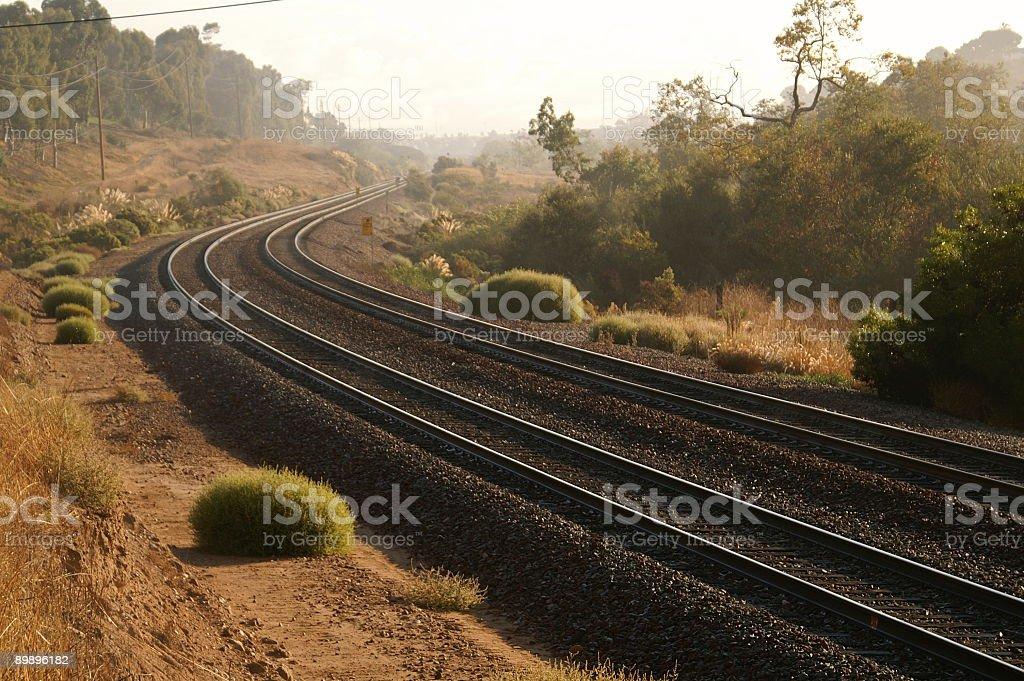 Rose Canyon Rails- rechts Lizenzfreies stock-foto