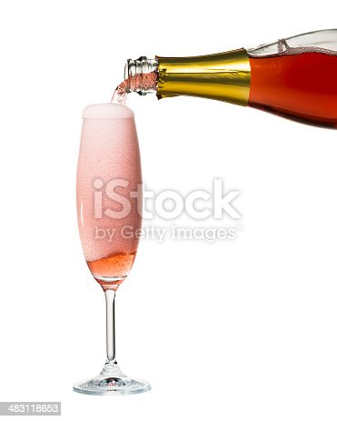 Rose Champagne isolated on white