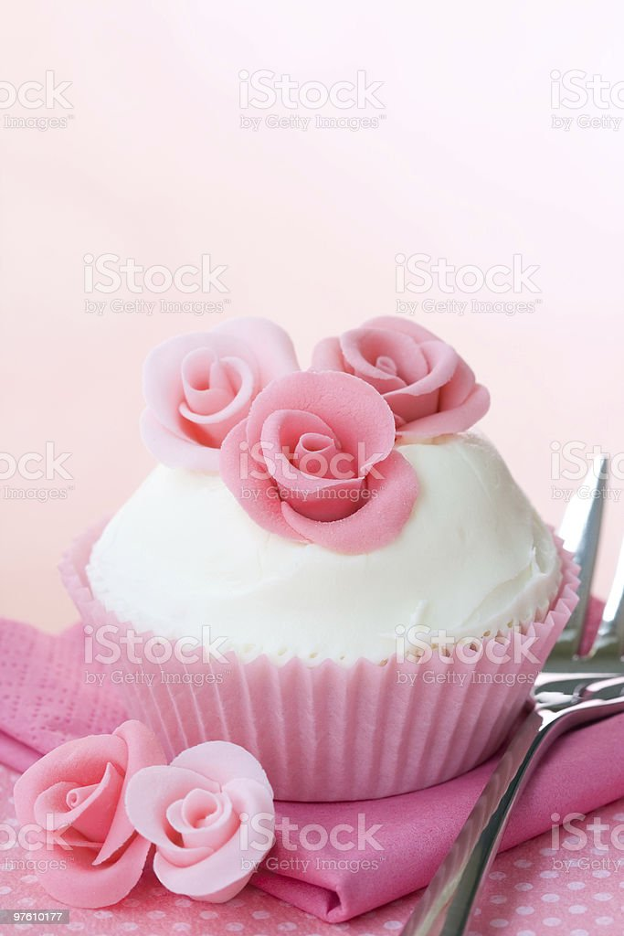 Rose cupcake royalty-free stock photo