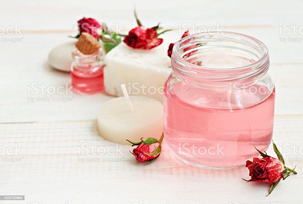 Rose essence stock photo