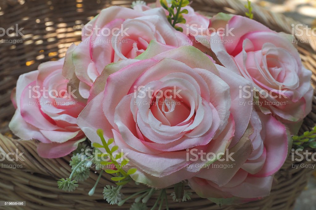 Rose flower artificial stock photo