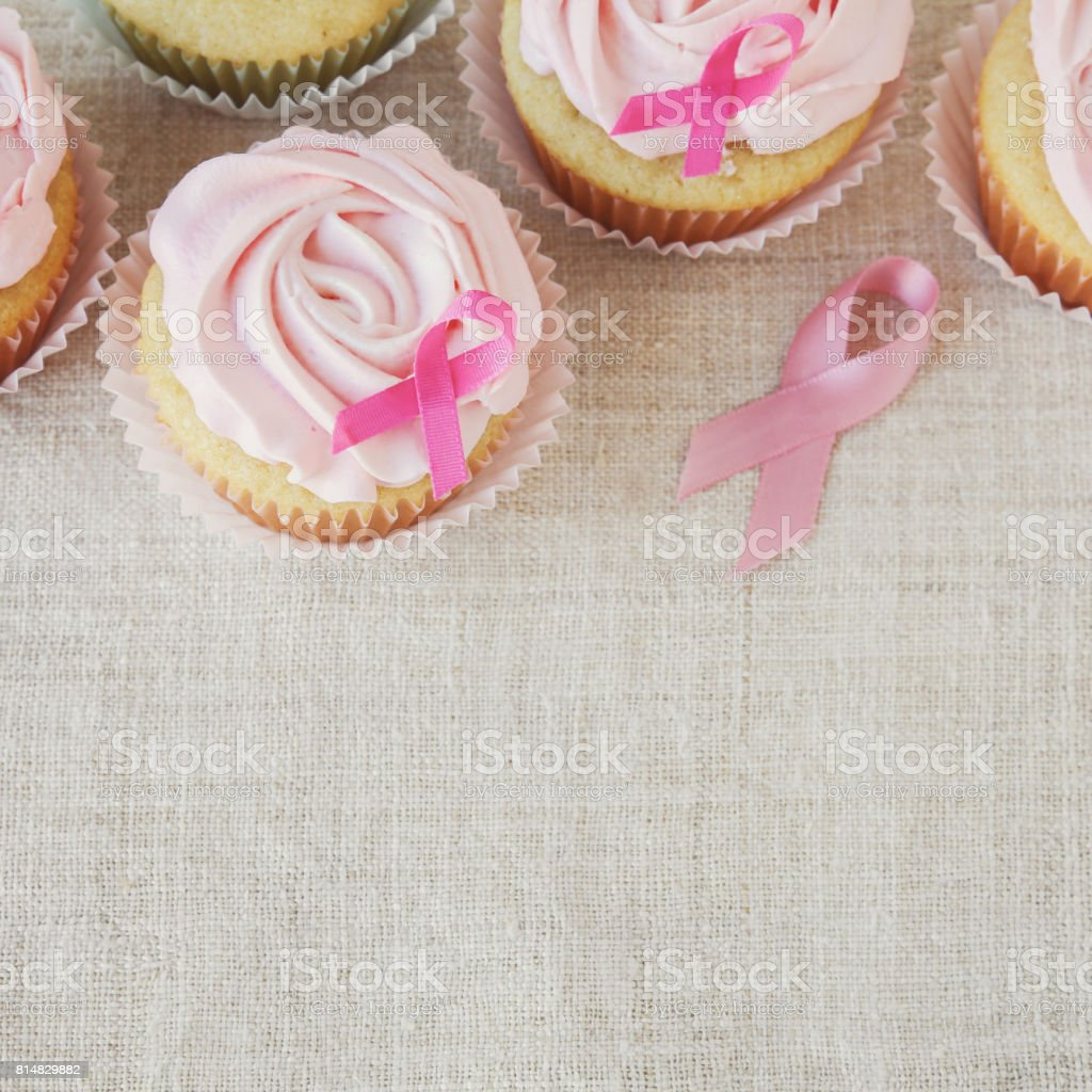 Rose Flower Cupcakes For Pink Ribbon Day Breast Cancer Awareness