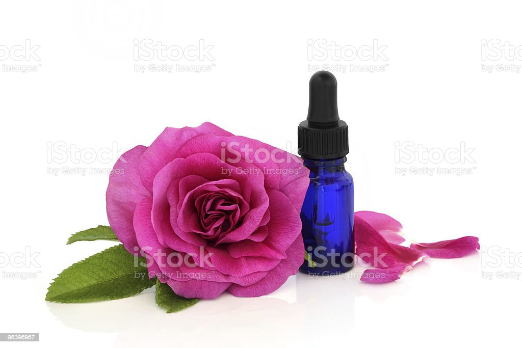 Rose Flower Essential Oil royalty-free stock photo